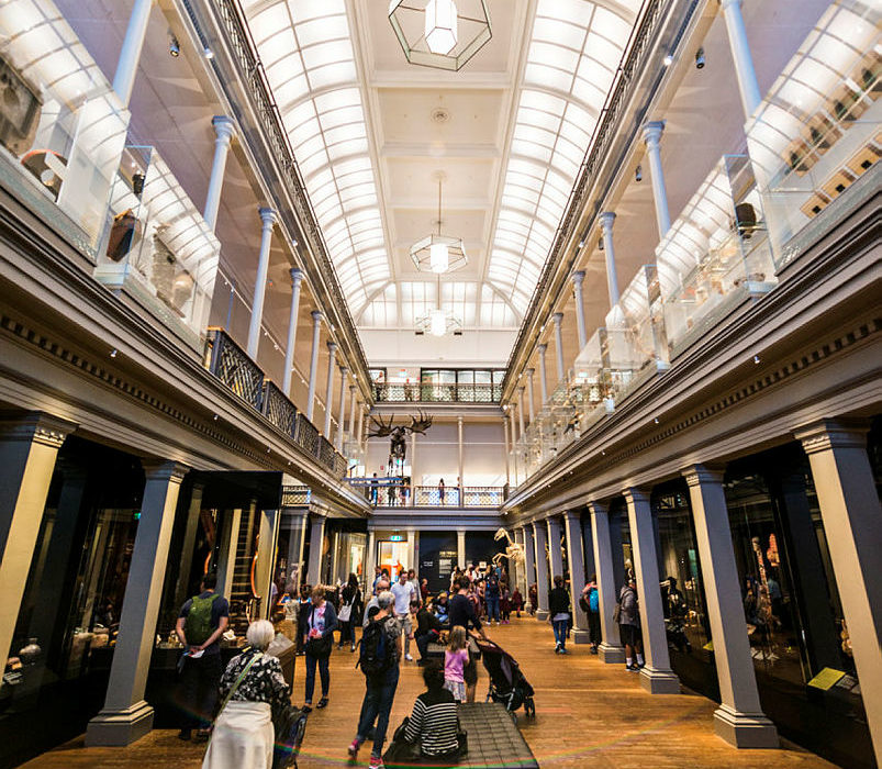 Photo of the national museum long gallery. (c) Aust Museum