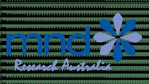 blue logo for mnd research australia
